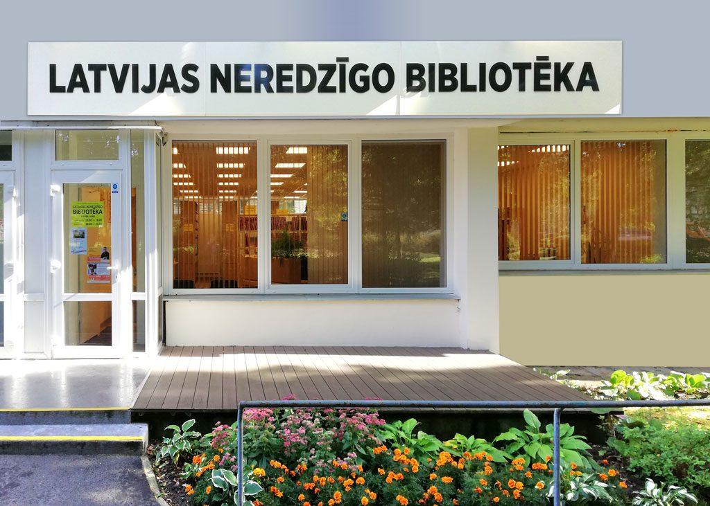 Latvijas Neredzīgo bibliotēkas fasāde