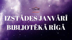janvāra izstādes Rīgā