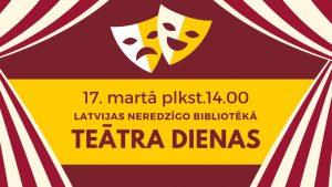 Rīga teātra dienas galvene