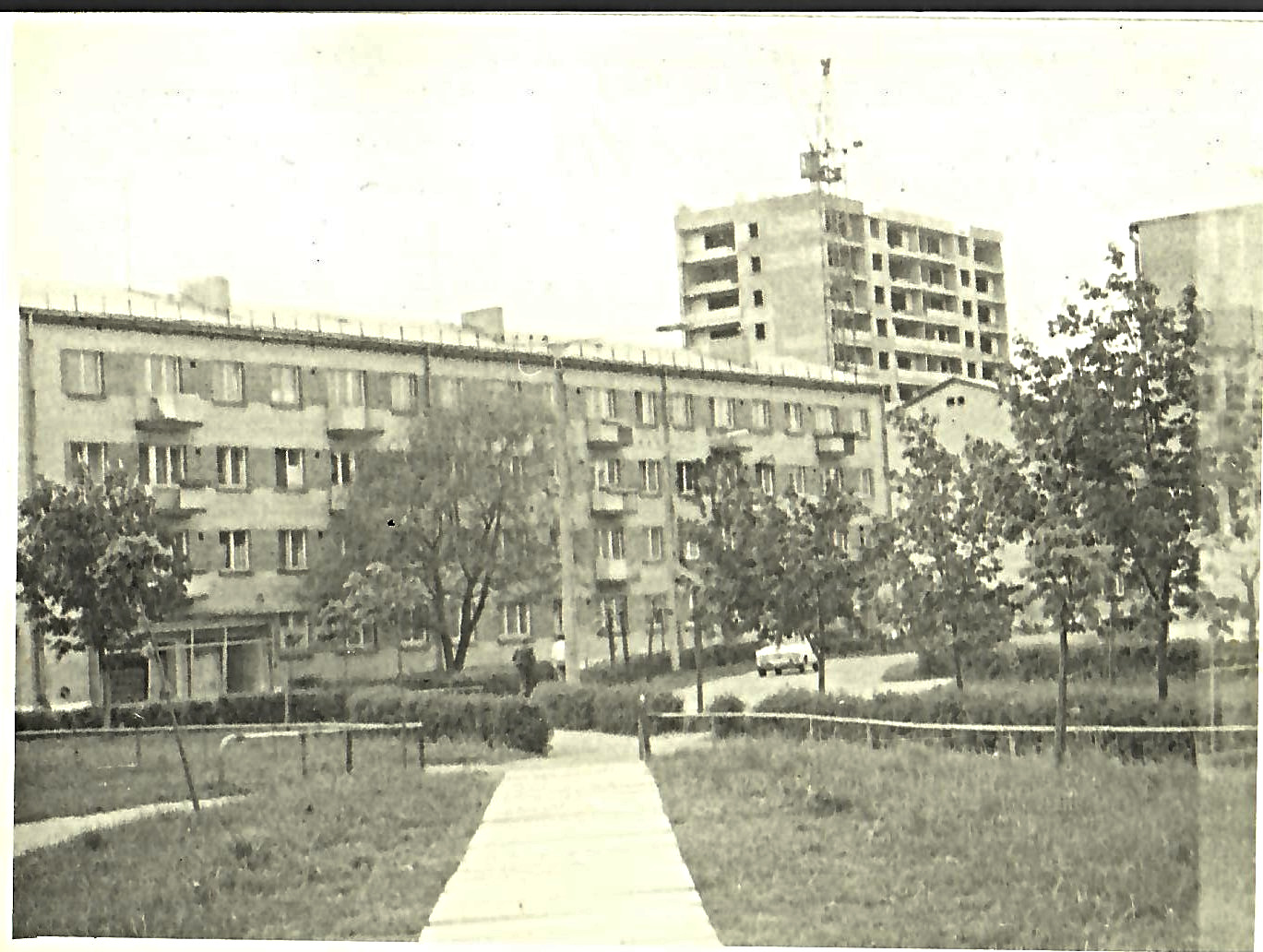 Skats uz ciematu no transformatora puses 1980.gadā. (Foto no V.Kārkliņa arhīva)