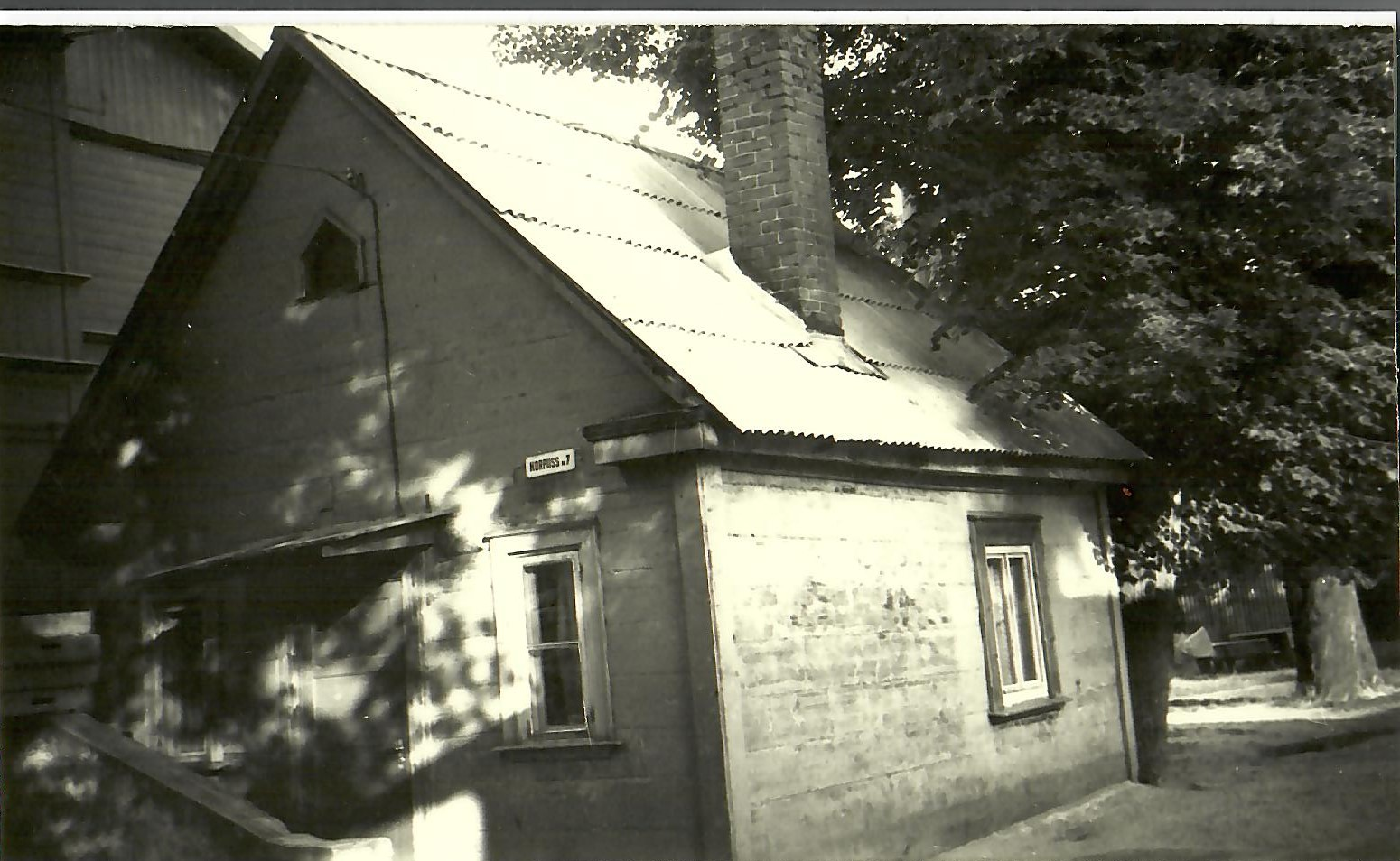 Pansionāta dārznieka māja 1972.gads (Foto no V.Kārkliņa arhīva)