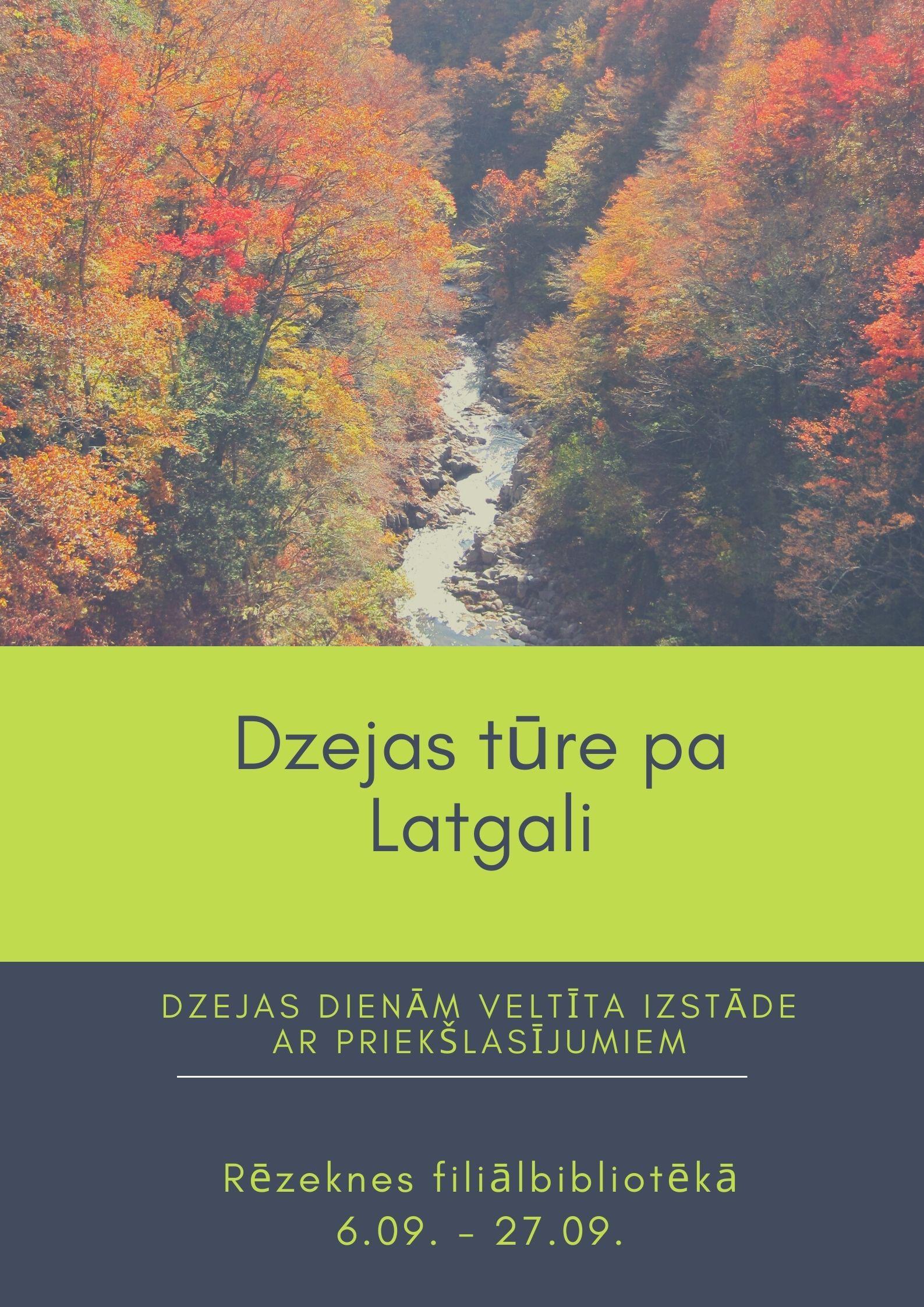Plakāts Dzejas tūre pa Latgali