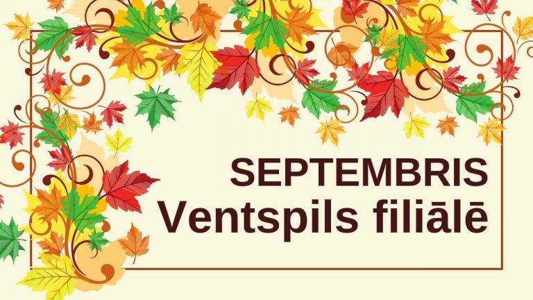 Septembris Ventspils filiālbibliotēkā galvene